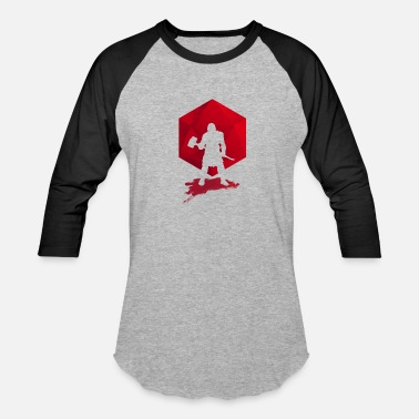 Brutal Tops Brutal Barbarian - Dungeons and Dragons dnd d20 - Unisex Baseball T-Shirt