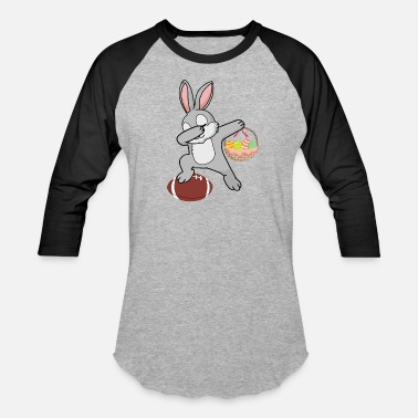 Easter Bunny Dab Dabbing Bunny Shirt - Football Easter Day - Unisex Baseball T-Shirt