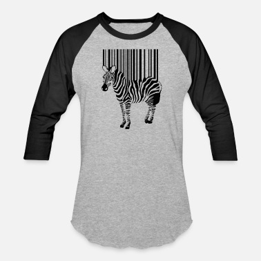 Zebra Stripes zebra wash stripes barcode - Baseball T-Shirt