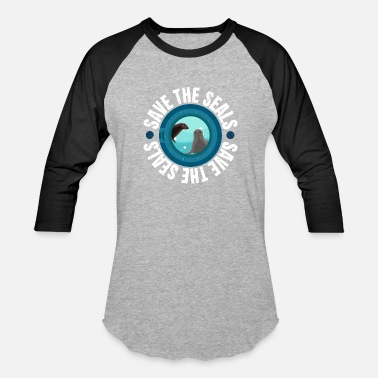 Protester Save the Seals Protest March - Unisex Baseball T-Shirt