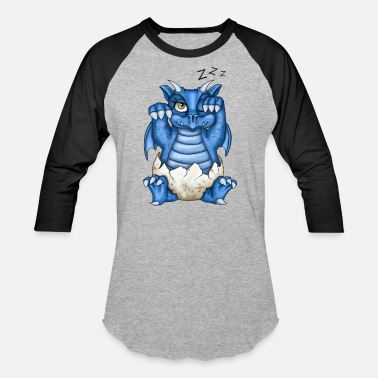 Blue Dream Fantasy Dragon Simon - Baseball T-Shirt