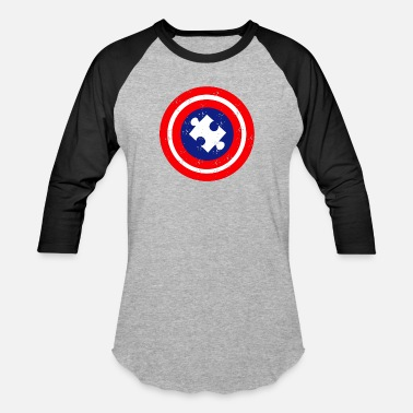 Superhero Autism Awareness Day Superhero Gift - Baseball T-Shirt