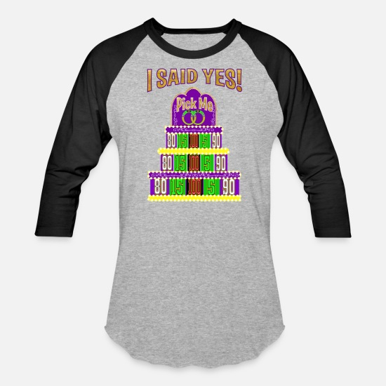 Game T-Shirts - TV Game Show Contestant - TPIR (The Price Is...) - Unisex Baseball T-Shirt heather gray/black