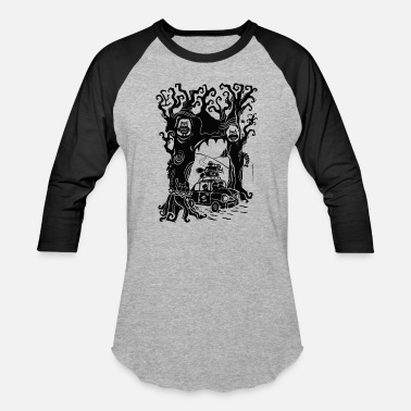 Travel Haunted Forest tour T-Shirts Design Ghost travel - Baseball T-Shirt