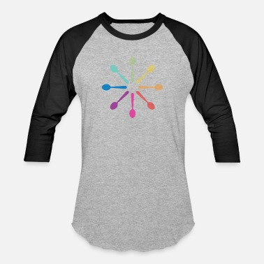 Fatigue Spoons Loading - Rainbow - Unisex Baseball T-Shirt