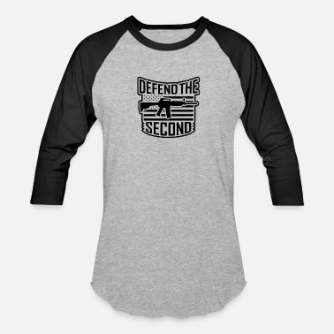 Defend The Second guns 2 - Unisex Baseball T-Shirt