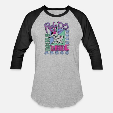 Rude rude dog - Unisex Baseball T-Shirt