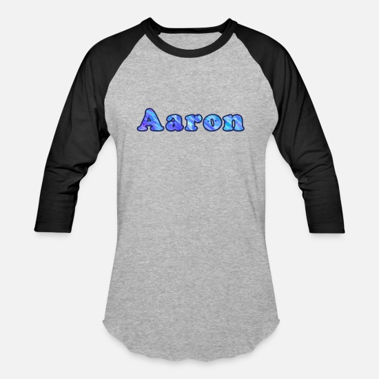 Aaron T-Shirts - Aaron - Unisex Baseball T-Shirt heather gray/black