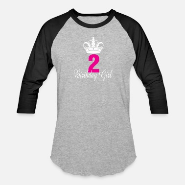 2 Year Old Birthday Birthday Girl 2 Years Old - Baseball T-Shirt