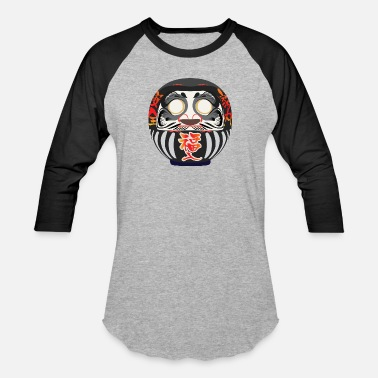 Good Luck Symbol Daruma, a symbol of perseverance and good luck - Unisex Baseball T-Shirt