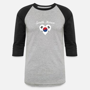 5303d8cc5 South Korea Flag South Korea Flag Heart - Unisex Baseball T-Shirt