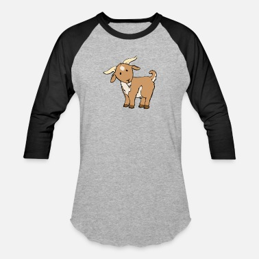 Cute Goat Cute Brown Goat - Baseball T-Shirt