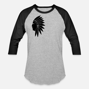 American Indian American Indian - Unisex Baseball T-Shirt
