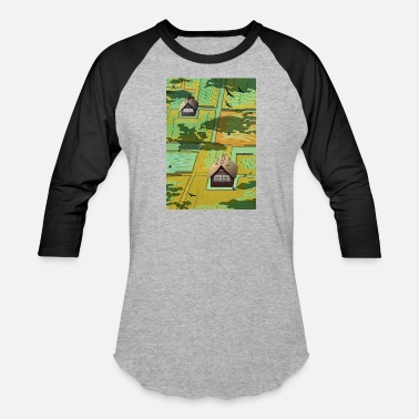Ecological japan rice field - Baseball T-Shirt