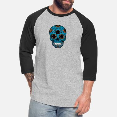 day of the dead skull - Unisex Baseball T-Shirt