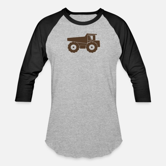 Tipple T-Shirts - Monster Tip Truck funny tshirt - Unisex Baseball T-Shirt heather gray/black