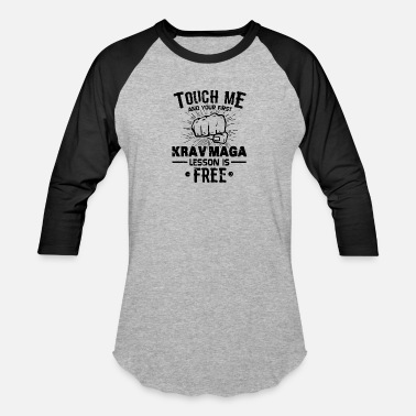 Mix KRAV MAGA Gift: Our First Krav Maga Lesson Is Free - Unisex Baseball T-Shirt