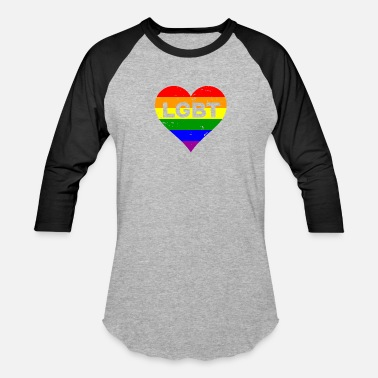 Hipster LGBT colorful heart love gift homosexuals friends - Unisex Baseball T-Shirt