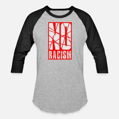 Charity rectangle no racism logo text against charity hatr - Baseball T-Shirt