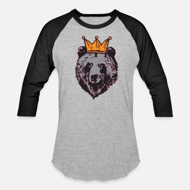 91456693 King Panda King Bear with Crown, Grizzly, Panda, Gift Idea - Unisex Baseball