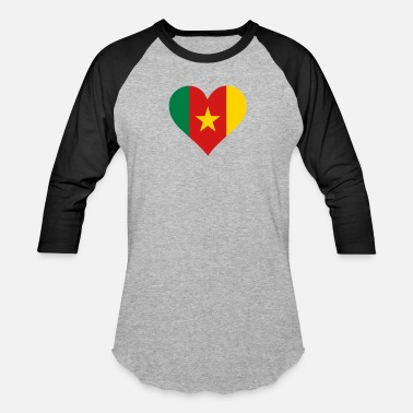 Cameroon A Heart For Cameroon - Unisex Baseball T-Shirt