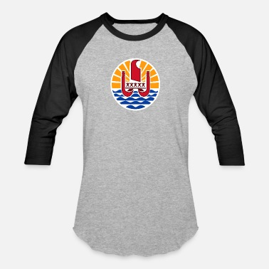 Atoll National Coat Of Arms Of French Polynesia - Baseball T-Shirt