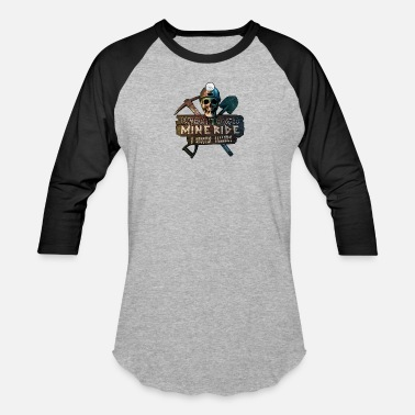 Ghost Town Mine Ride - Unisex Baseball T-Shirt