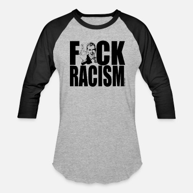 Fuck Rabbit fuck racism - Baseball T-Shirt