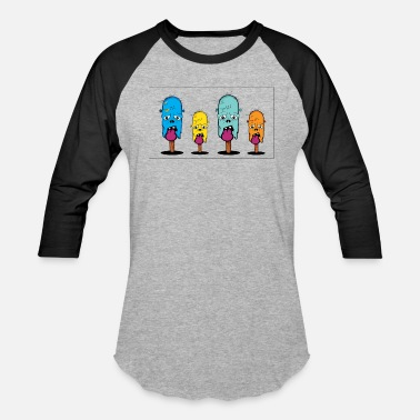 Popsicle Ice Cream zombie ice cream Popsicles - Baseball T-Shirt