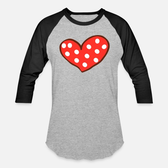 I Love T-Shirts - Red Heart I Love You Valentines Day - Unisex Baseball T-Shirt heather gray/black