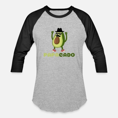 Healthy Eating Avocado Funny Papacado Avocado Costume for Dad - Unisex Baseball T-Shirt