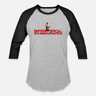 Official Youtuber Spongebob971000 Official YouTube Logo - Baseball T-Shirt
