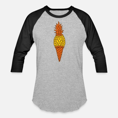 Pineapple waffle croissant ice cream delicious hunger food p - Baseball T-Shirt