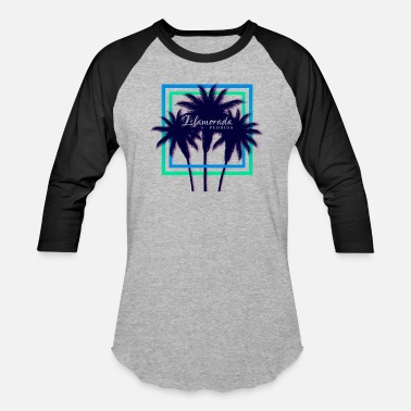 Florida Palm Tree Islamorada, Florida Palm Trees Souvenir - Unisex Baseball T-Shirt