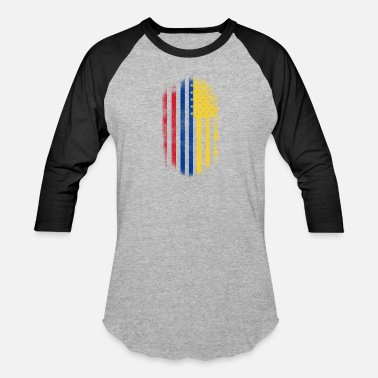 Colombia Usa Colombian American Flag Colombia and USA Design - Baseball T-Shirt