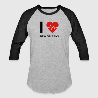 I Love New Orleans - Baseball T-Shirt