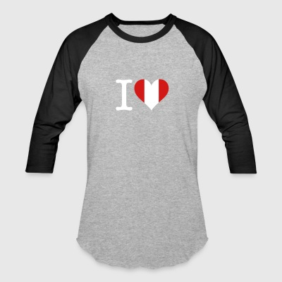 I Love Peru - Baseball T-Shirt