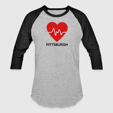 Heart Pittsburgh - Baseball T-Shirt