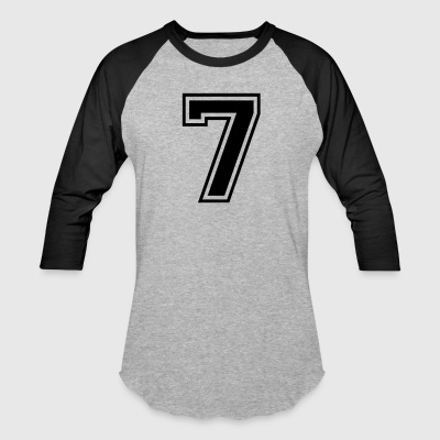 Number 7 college style font - Baseball T-Shirt