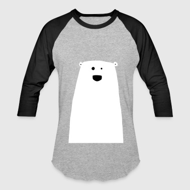 Cute funny & crazy Polar Bear Illustration - Baseball T-Shirt