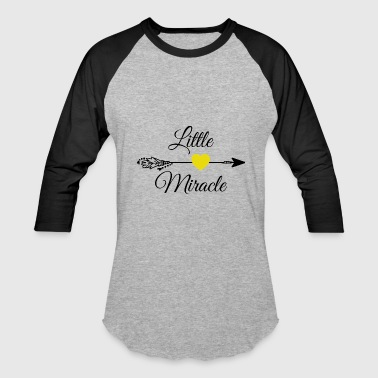Little miracle Yellow Heart.Baby Gifts. New Baby. - Baseball T-Shirt