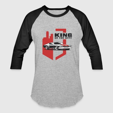 Muscle Car - the king - Baseball T-Shirt