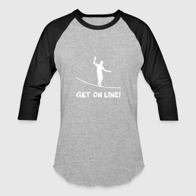 GET ON LINE Slackline Gift - Baseball T-Shirt