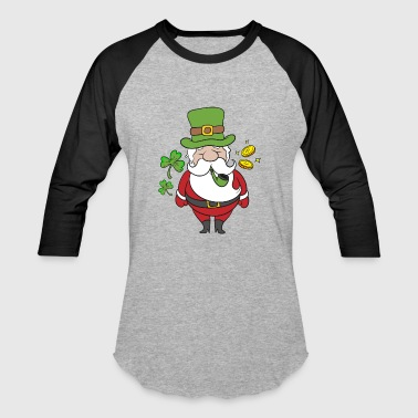 Irish Santa Claus St Patricks Day Gift Christmas - Baseball T-Shirt