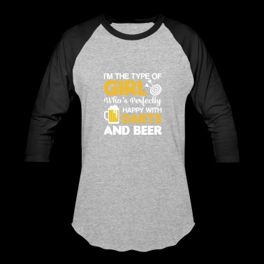 Im Happy With Darting Beer Girl Love - Baseball T-Shirt