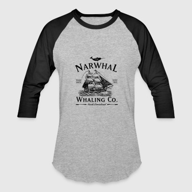 The Narwhal Whaling Company - Baseball T-Shirt