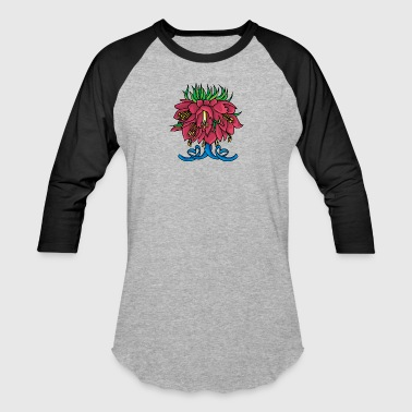 big_red_hanging_flowers - Baseball T-Shirt