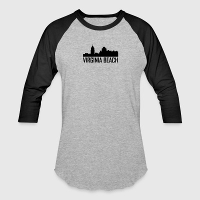 Virginia Beach Virginia City Skyline - Baseball T-Shirt