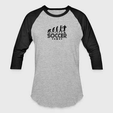 Retro Soccer Evolution - Baseball T-Shirt