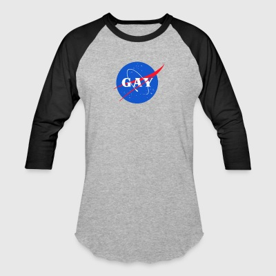 Nasa Gay Pride Logo - Baseball T-Shirt